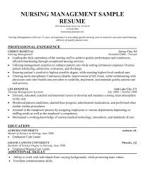 Registered Nurse Resume Examples by Resume Samples For Nursing Managers Augustais