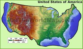 Large Map Of Usa by Topographic Map Of Usa