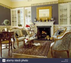 furniture french country sofa with fireplace and wooden floor for