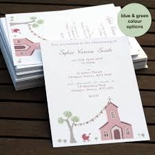 Invitation Cards Baptism Personalised Christening Or Baptism Invitations By Molly Moo