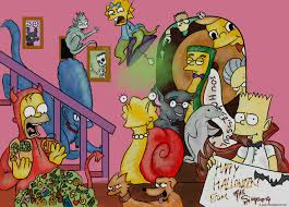 the simpsons halloween of horror wallpapers simpsons halloween widescreen wallpapers bizarre