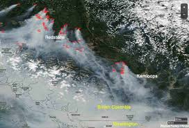 Wild Fires In Oregon Update by Wildfire Smoke Produces Haze Over Much Of British Columbia And The