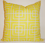 SALE OUTDOOR Yellow Geometric Pillow Cushion Covers by HomeLiving