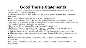thesis statement help SEC LINE Temizlik