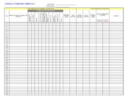 Project Management Spreadsheet Submittal Log Template Job Stuff Pinterest Logs Microsoft