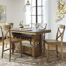 Signature Design By Ashley Trishley Counter Height Dining Table - Counter height kitchen table