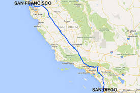 Greyhound Routes Map by San Diego To San Francisco All The Ways To Travel