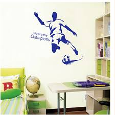 online get cheap football wall stickers for men room aliexpress creative wall stickers bedroom home decor living room backdrop removable stickers football for men sticker poster