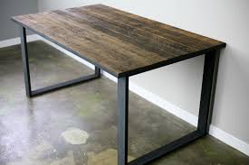 Custom Made Dining Room Furniture Combine 9 Industrial Furniture U2013 Dining Table U2013 Desk Reclaimed