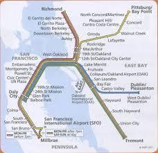 San Francisco Bart Map Bart Map High Quality Maps Of Bart