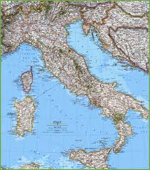 Map Of Italy Regions by Large Detailed Map Of Italy With Cities And Towns
