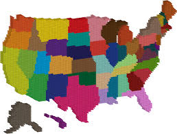 United States Map by Clipart 3d Multicolored United States Map Dots