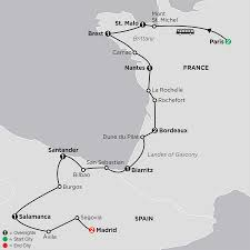 Map Of France And Spain by Tour Of Spain Cosmos Affordable Travel