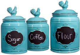 kitchen turquoise canister sets for kitchen accessories ideas