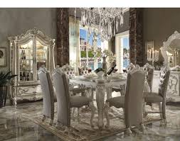 versailles 7pc white counter height dining set 61150
