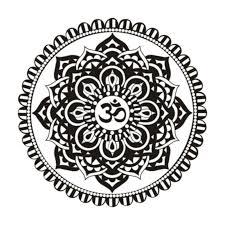 Indian Flower Design Mandala Vinyl Removable Wall Sticker Indian Floral Design Sun