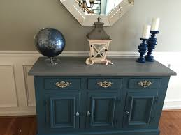 Chalk Paint Furniture Ideas by Painted Dining Room Buffet Using Annie Sloan Chalk Paint Aubusson