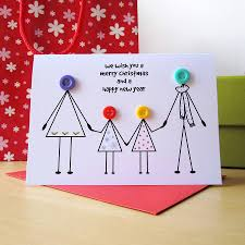personalised family christmas button card family christmas