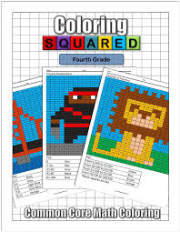 math concepts coloring squared