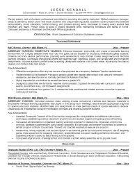 Example Resume  Sample Resume For Assistant Teacher  Sample Resume     Binuatan