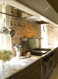 kitchen modern set kitchen design with stunning brick backsplash