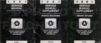 1991 caravan town u0026 country voyager air bag repair shop manual