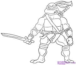 teenage mutant ninja turtle coloring pages printable