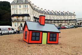 cartoony tiny homes pop up all over english port town curbed