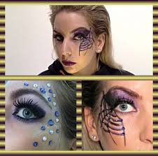glamorous easy spider make up tutorial for halloween swarovski