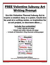 FREE Valentine     s Day Writing Prompt and Writing Paper