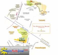 Metro Manila Map by The Palmtree Villas Pasay Metro Manila Philippine Realty Group