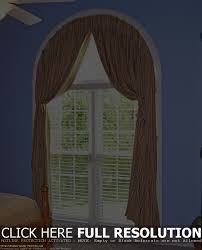 arched window blinds our granada valance over an archwindow with