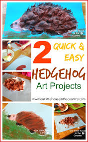 2 quick and easy hedgehog art projects u2013 autumn fall art for