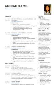 Relief Teacher Resume Samples   VisualCV Resume Samples Database VisualCV Relief Teacher Resume Samples