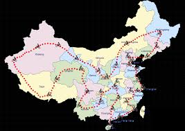 Map Of China Provinces The Trip The Great Ride Of China