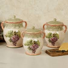 Country Canister Sets For Kitchen Grapes Kitchen Decor Touch Of Class