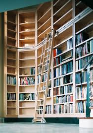 floor to ceiling bookcase with ladder roselawnlutheran