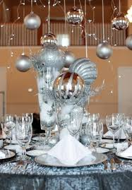Silver Centerpieces For Table Holiday Party Ideas Christmas Table Party Inspiration Event