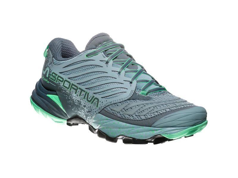 La Sportiva Akasha Trail Running Shoe Stone Blue/Jade Green 37.5 26Z-904704-37.5