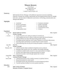 Resume Samples For Jobs In Usa by Best Product Manager Resume Example Livecareer
