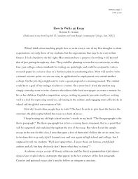 how write an essay