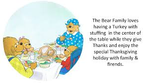 words in the word thanksgiving the berenstain bears u0027 thanksgiving favorites the berenstain