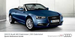 2013 audi a5 cabriolet s5 cabriolet u2014 quick reference guide u2013 16
