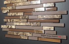 Mosaic Tiles For Kitchen Backsplash Polished Dark Emperador Stone Mosaic U0026 Brown Glass Tile Kitchen