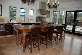 custom kitchen island table made with thick eastern white pine