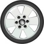 A Low Profile Tyre On An Alloy Wheel Royalty Free Cliparts ...