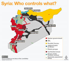 Iraq Syria Map by Syrian Civil War Map Who Controls What News24