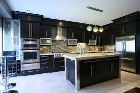 Painted Kitchen Backsplash Photos Great Painted Kitchen Cabinets Brick Subway Tile Backsplash Ideas