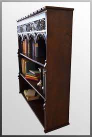 open bookcase library cabinet gothic book shelves antiques atlas
