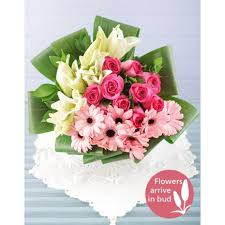 Flowers Cape Town Delivery - eat pray love bouquet lily rose u0026 gerbera bouquet inmotion